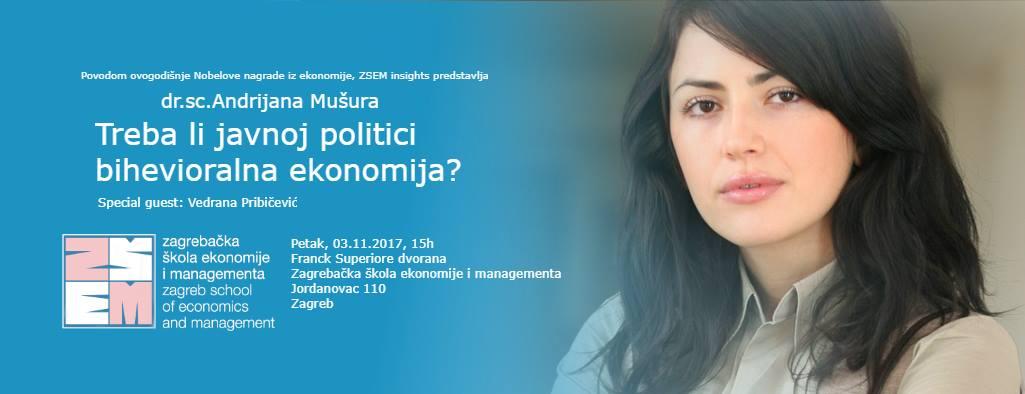 ZSEM Business Insights: Treba li javnoj politici bihevioralna ekonomija?