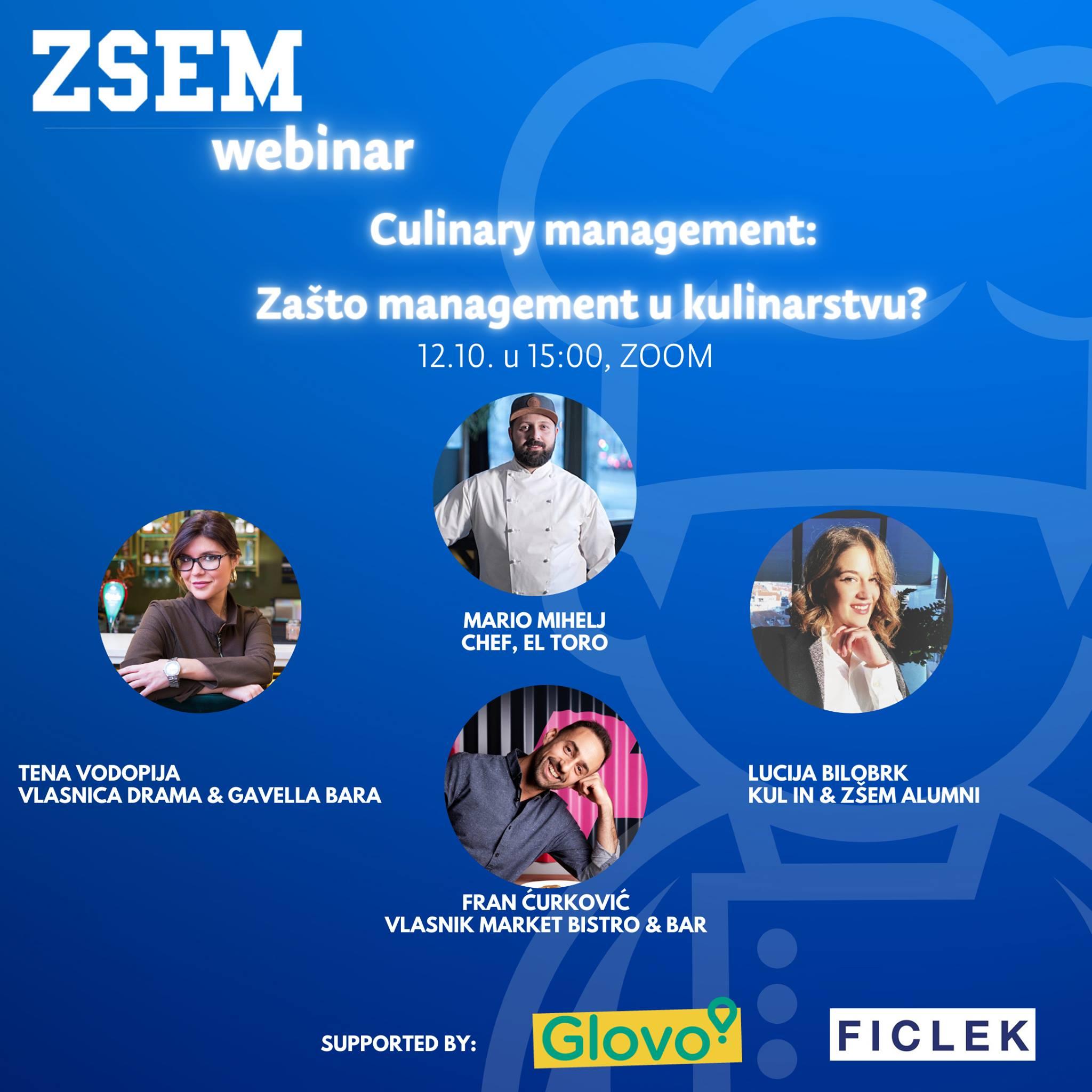 Culinary management webinar